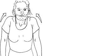 Tegning av person som løfter skuldrene