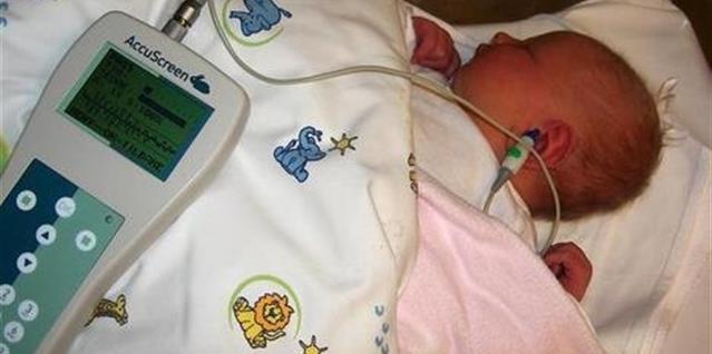 Hørselscrrening av nyfødt baby