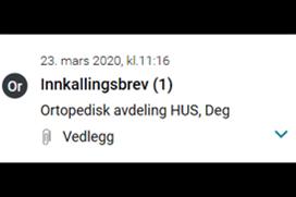 Skjermdump fra join-løsningen på helsenorge.no. Bilde.